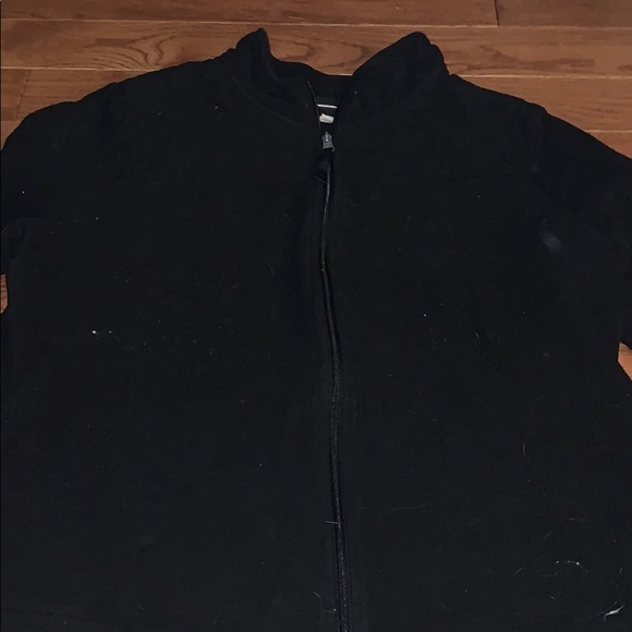 Black zip up fleece sweater